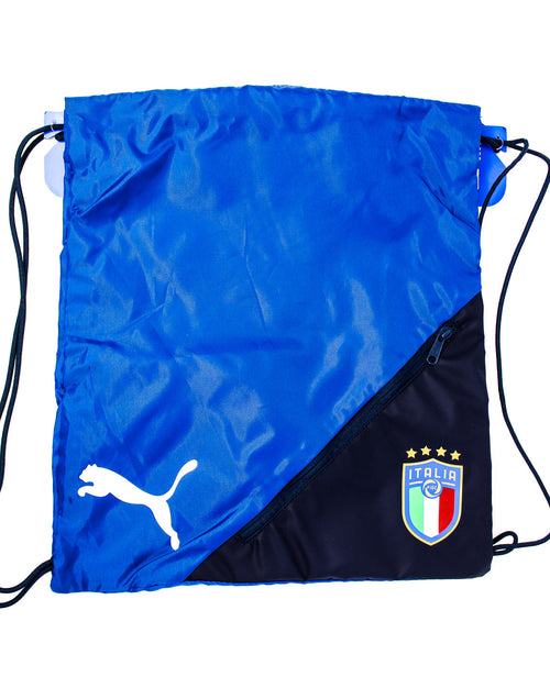 Puma Italia String Bag, Black & Blue