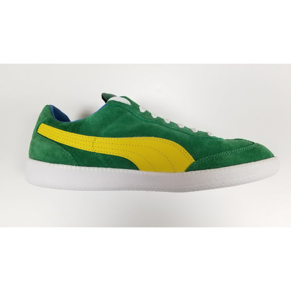 Puma Liga Suede Shoe, Green, Side View