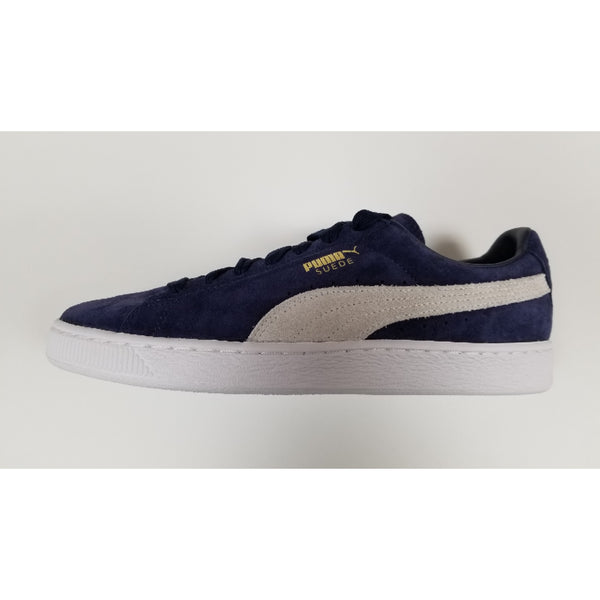 Puma Suede Classic Shoes, Navy, Suede Upper, Rubber Soleplate, Side View