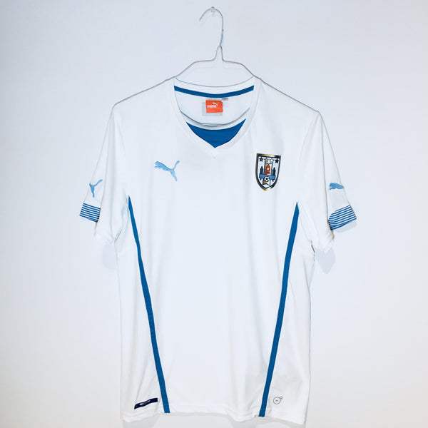 Puma Uruguay World Cup 2014 Away Replica Soccer Jersey, Short Sleeve, White