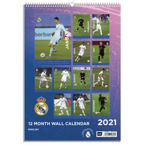 Real Madrid 2021 Calendar, Back View
