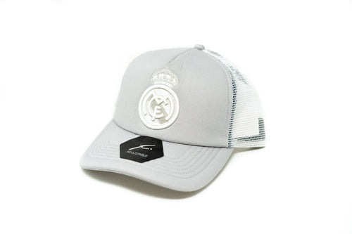 Fi Collection Real Madrid Mesh Backed Baseball Cap, White & Grey