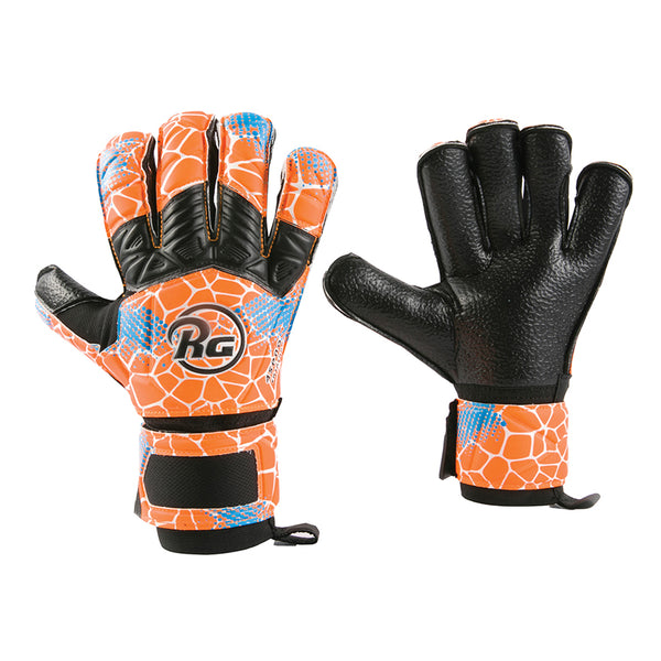 RG Aspro Entreno Goalkeeper Gloves, Orange, Roll-Finger & Flat Cut, Finger Protection