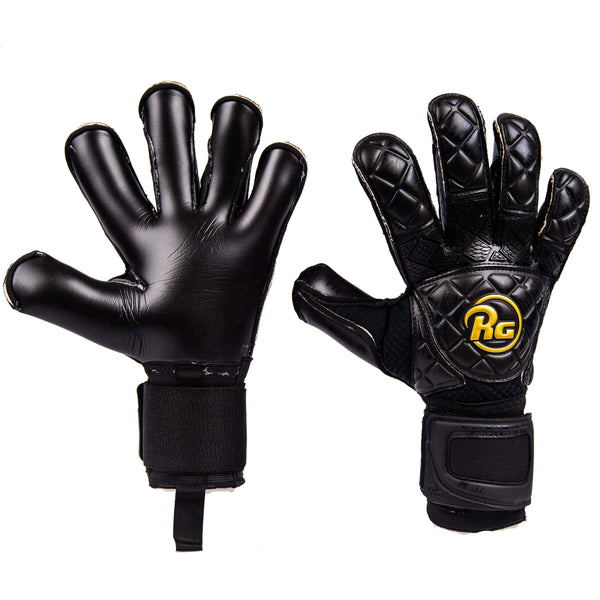 RG Snaga 2020 Goalkeeper Gloves , Black, Hybrid Roll-Finger Cut