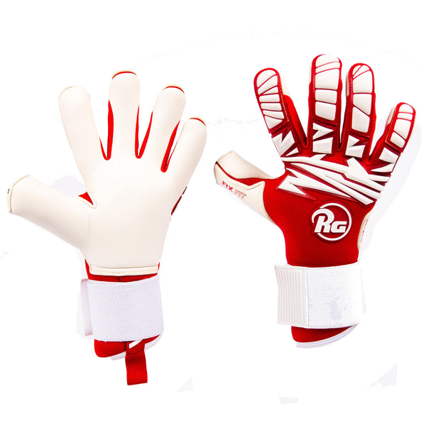 RG Tuanis 2020 Goalkeeper Gloves, Red & White, Hybrid Cut