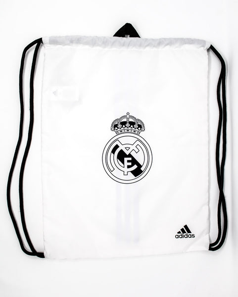 Adidas Real Madrid String Bag, White, Front View