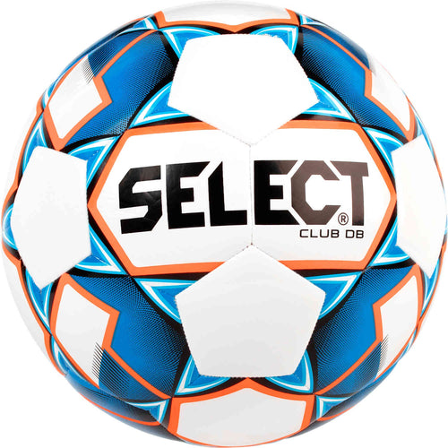 Select Club DB Soccer Ball, White & Blue, Size 5