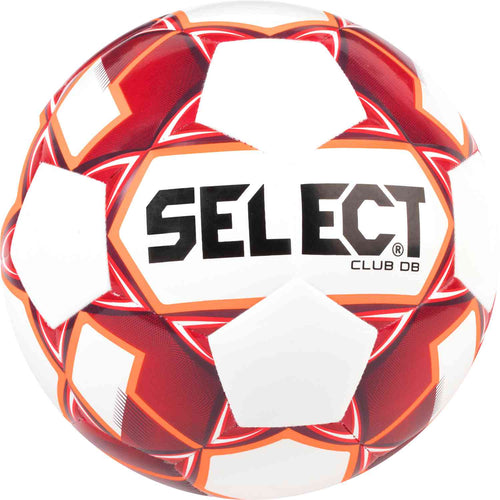 Select Club DB Soccer Ball, White & Red, Size 5
