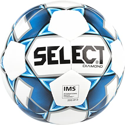 Select Diamond Soccer Ball, Blue, Size 5
