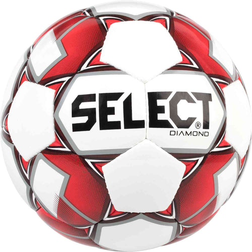 Select Diamond Soccer Ball, Red, Size 5