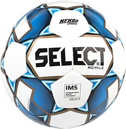 Select Royale Soccer Ball, White & Blue, Size 5