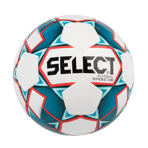 Select Speed DB Futsal Ball, White/Blue, Size 4
