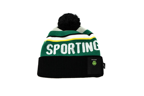 Sporting CP Knitted POM Beanie '19, Black & Green