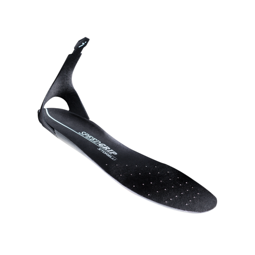 Storelli Black SpeedGrip Insoles, Heel-Tab, Black