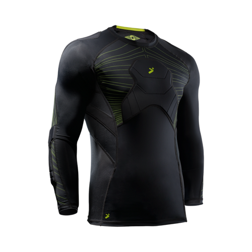 Storelli BodyShield 3/4 Goalkeeper Shirt, Black & Green