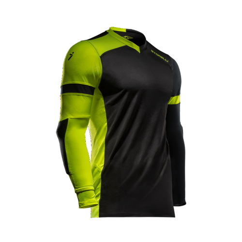 Storelli ExoShield Gladiator Youth Goalkeeper Jersey, Long Sleeve, Black