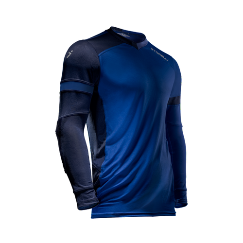 Storelli ExoShield Gladiator Youth Goalkeeper Jersey, Long Sleeve, Royal Blue