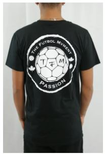 The Futbol Mvment All-Around Futbol T-Shirt, Black, Back