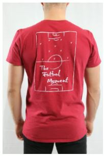 The Futbol Mvment All-Around Futbol T-Shirt, Red, Back