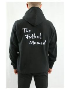 The Futbol Mvment Classic Hoodie, Black, Back