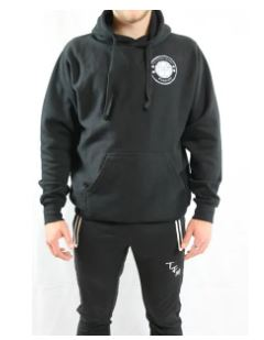 The Futbol Mvment Classic Hoodie, Black, Front