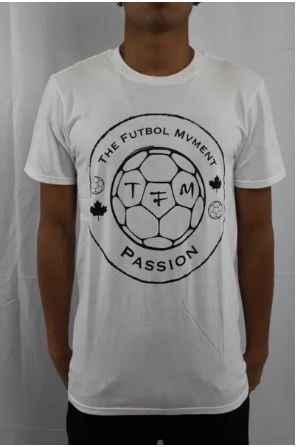 The Futbol Mvment Club Logo T-Shirt - White