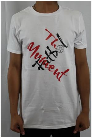 The Futbol Mvment Crossed Logo T-Shirt, White