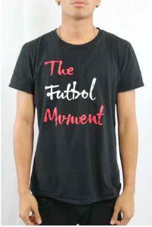 The Futbol Mvment Futbol Pitch T-Shirt - Black
