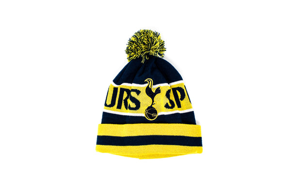 Tottenham Knitted POM Beanie - Yellow/Navy