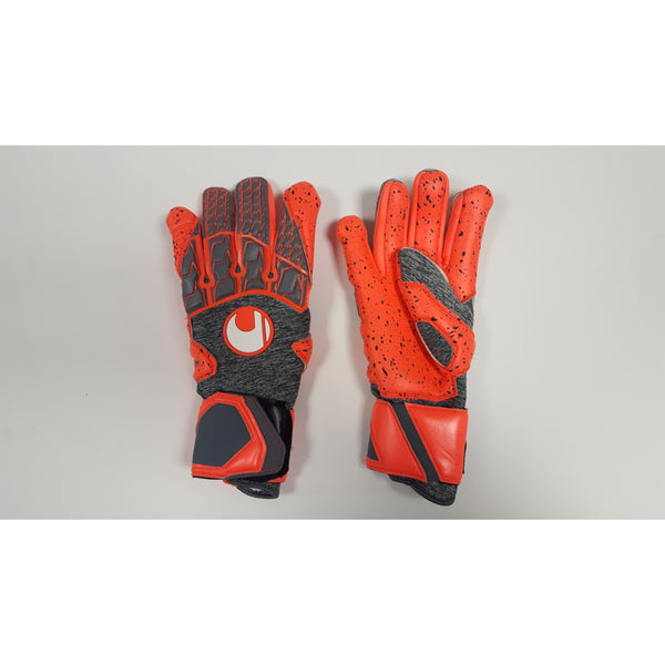 Uhlsport Aerored Supergrip HN Goalkeeper Gloves, Half-Negative Cut