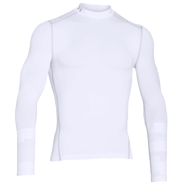 Under Armour Youth Cold Gear Mock, White