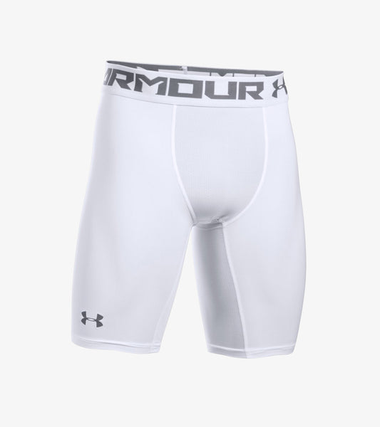 Under Armour Heat Gear 2.0 Long Shorts, White