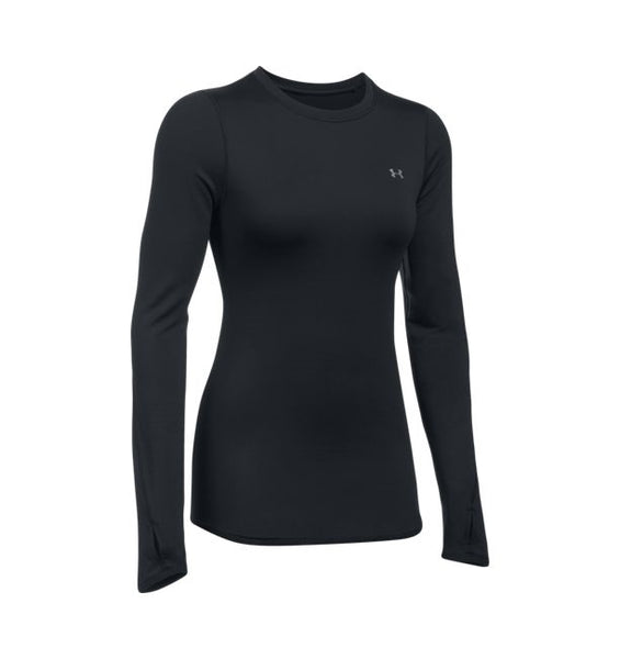 Under Armour Women's Cold Gear Long Sleeve Crew, Black