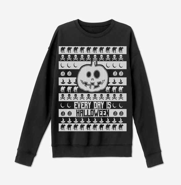 PREORDER: Every Day Is Halloween Ugly Halloween Sweater (Ships by 9/15/2020)