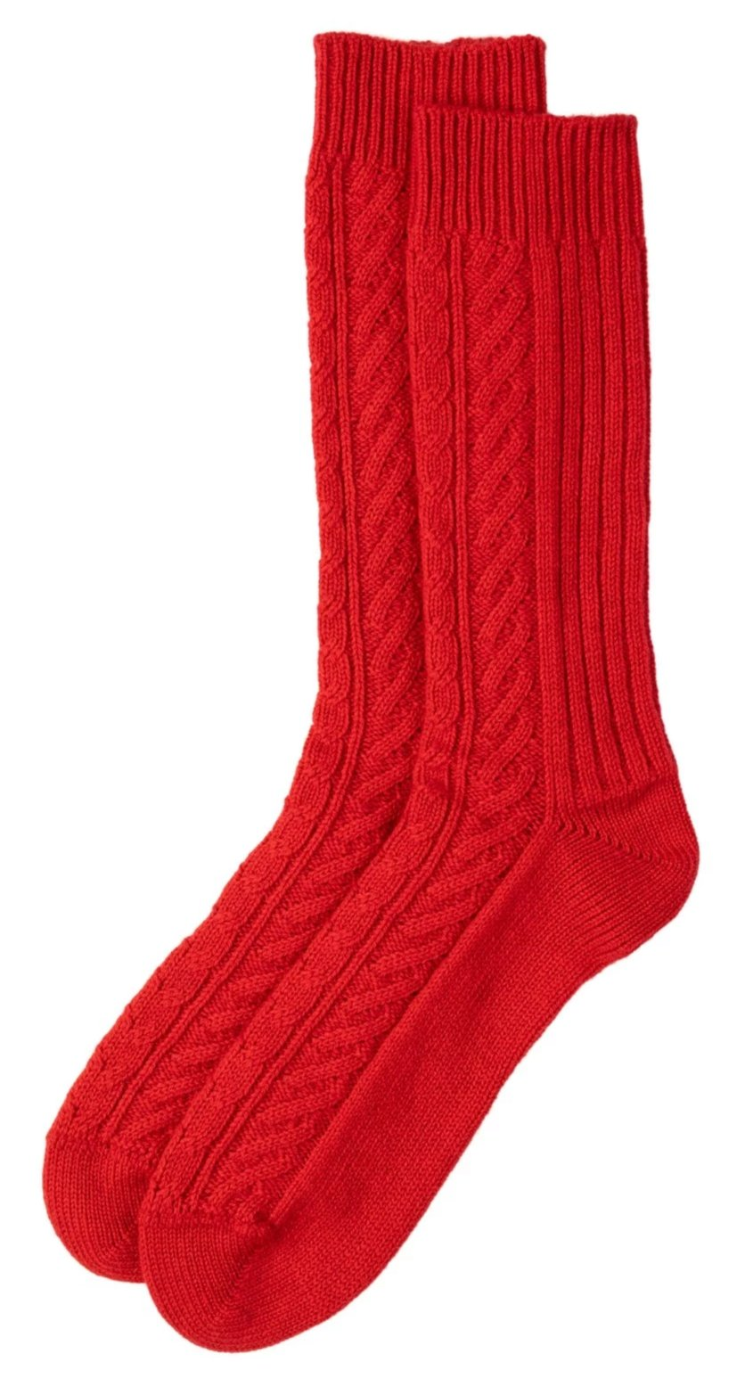 Brigade Cashmere Cable Knit Sock