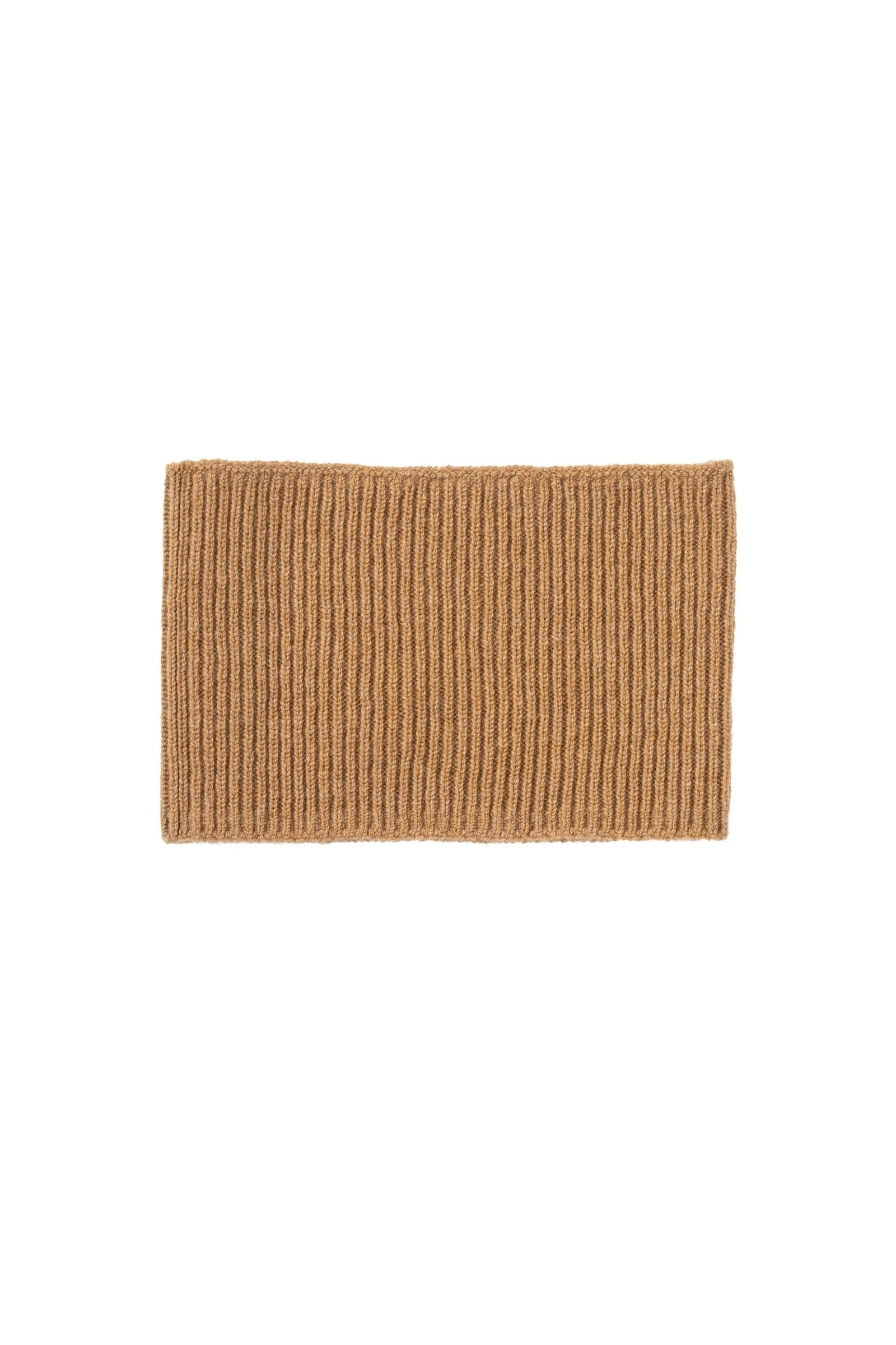 Ribbed Cashmere Headband | Camel