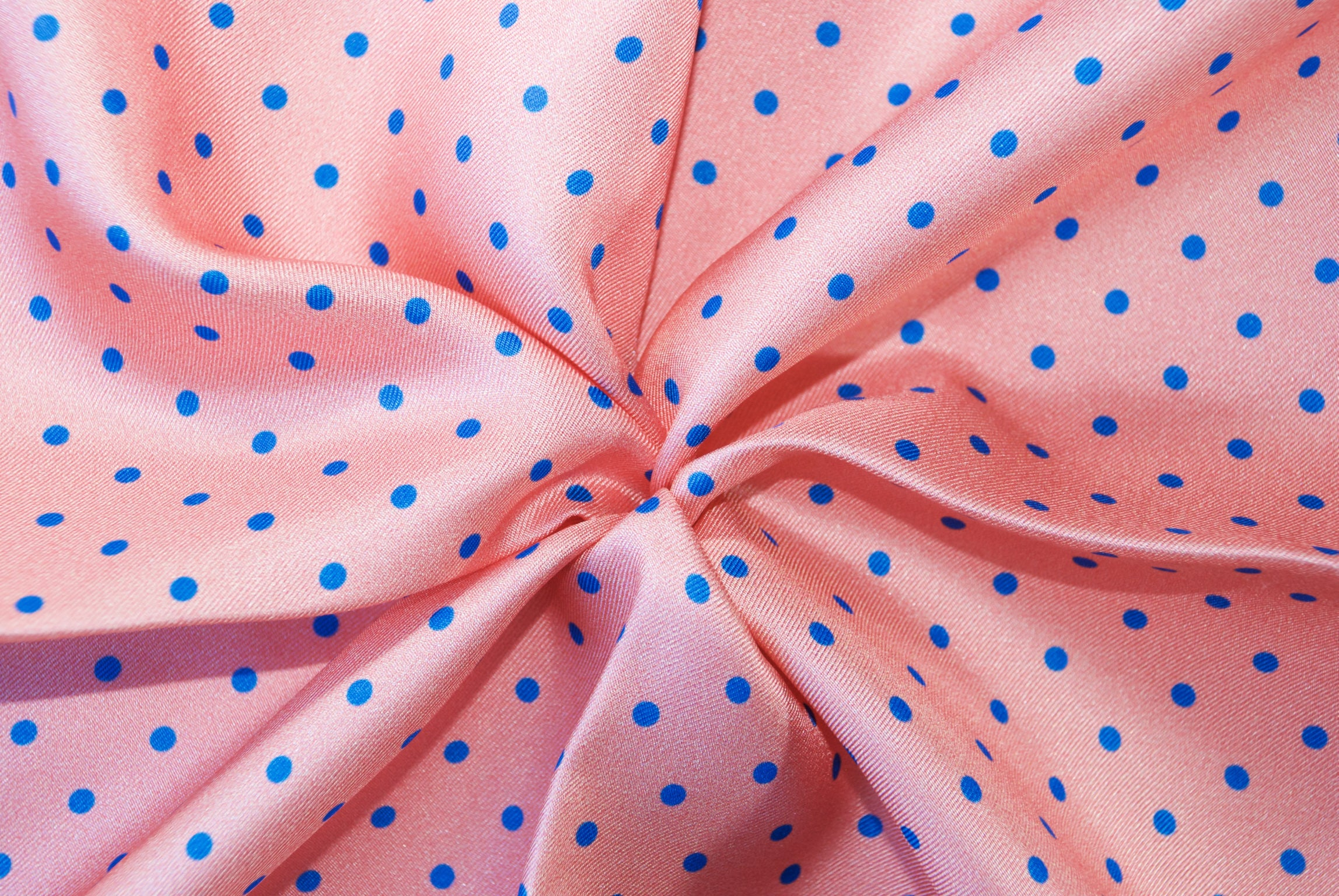 Pink with Blue Dots