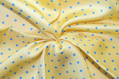 Yellow with Blue Dots