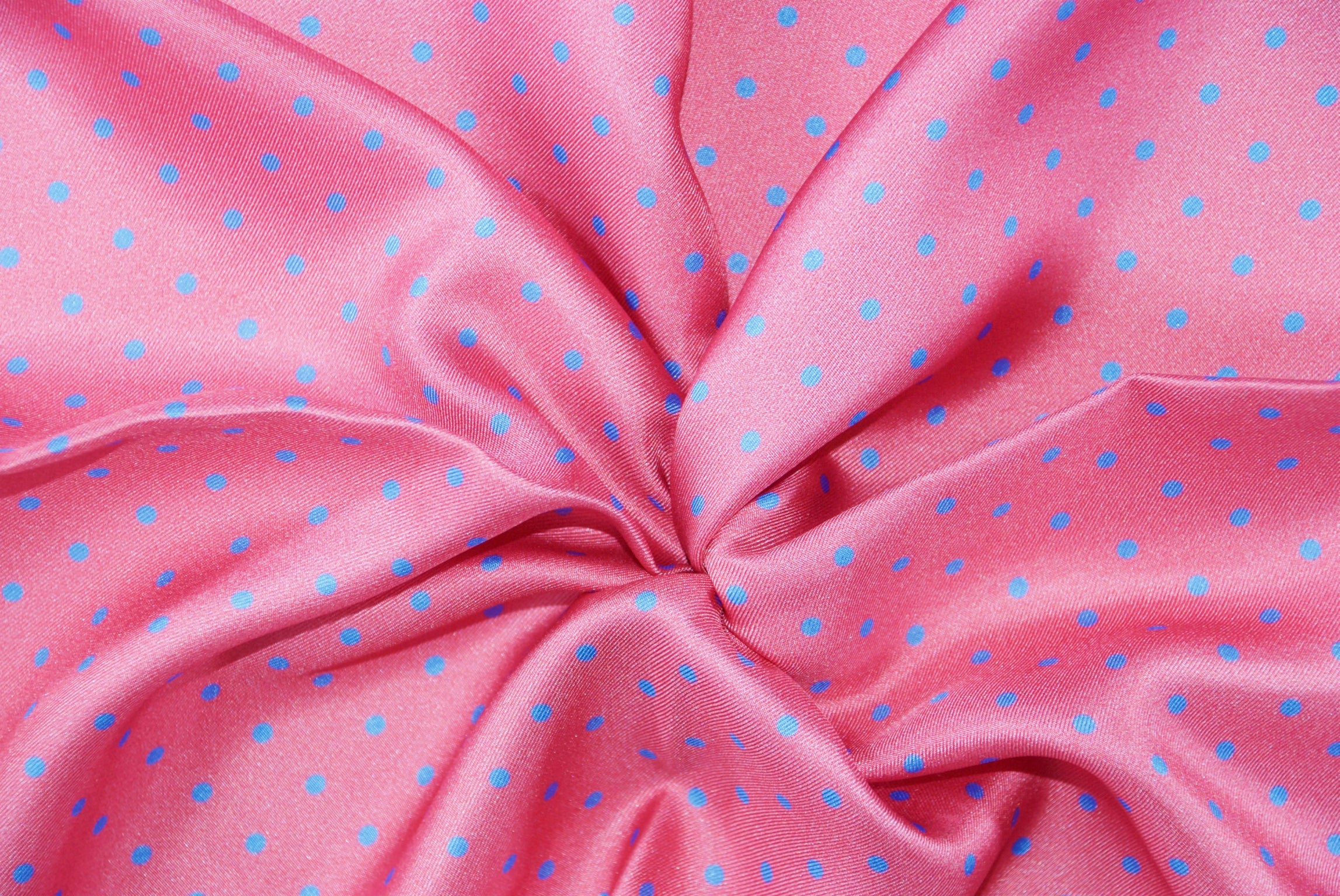 Candy Pink with Blue Dots