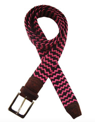 Bright Pink/Black Belt
