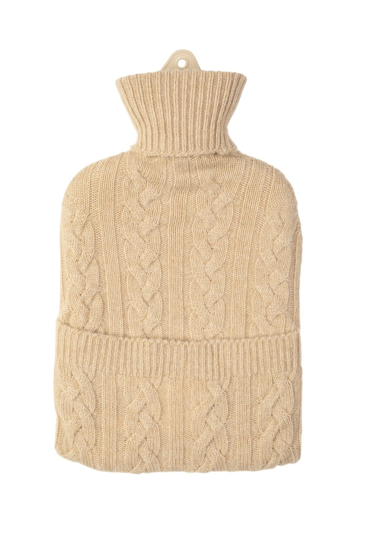 Camel Cable Cashmere Hot Water Bottle
