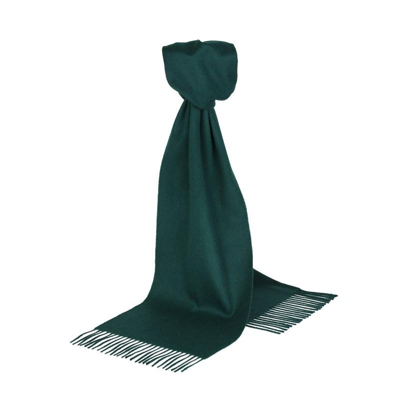 Rich Green Cashmere Scarf