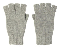 Light Grey Cashmere Fingerless Gloves