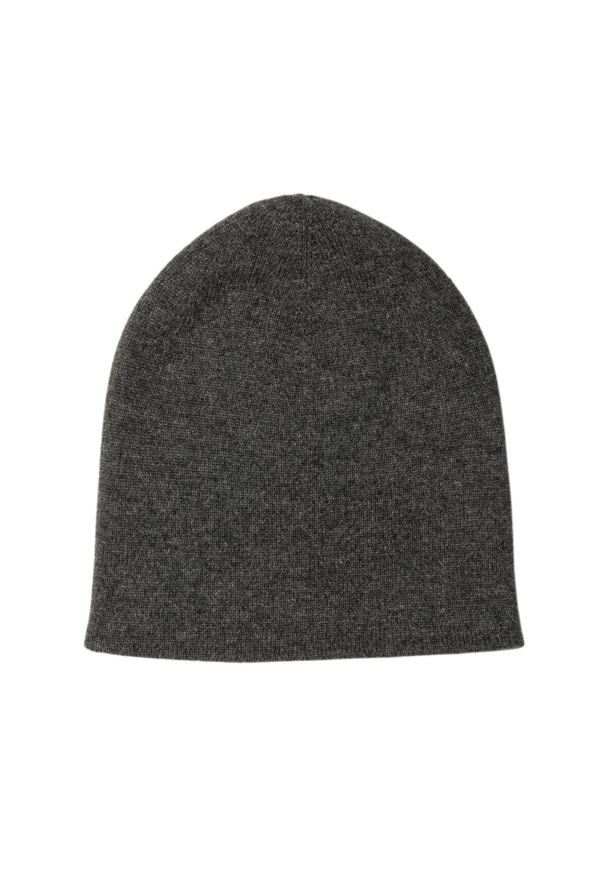 Charcoal & Dove Grey Reversible Cashmere Hat