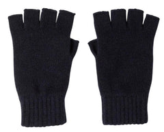 Navy Cashmere Fingerless Gloves