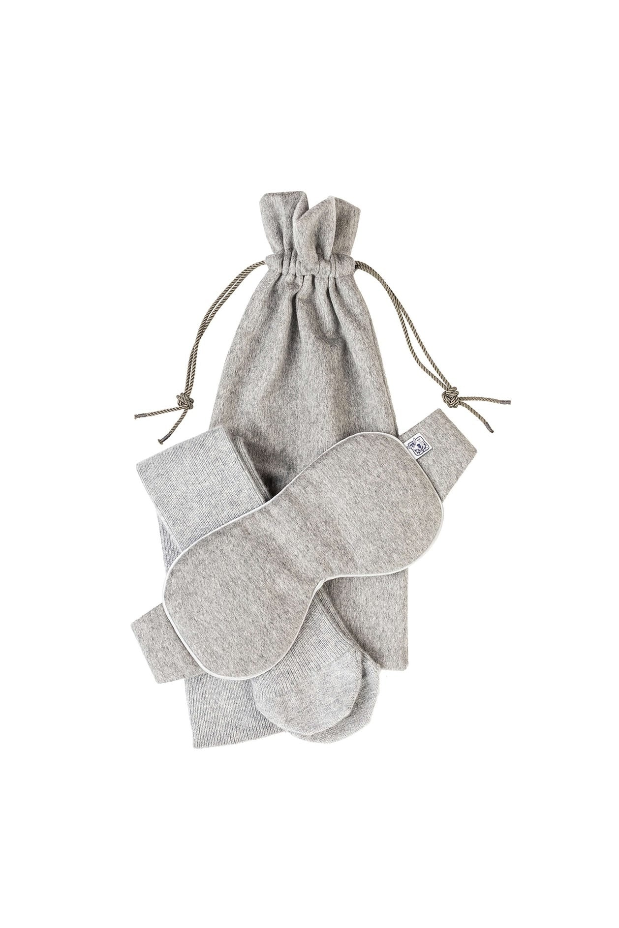 * Luxury Cashmere Travel Set | Silver *