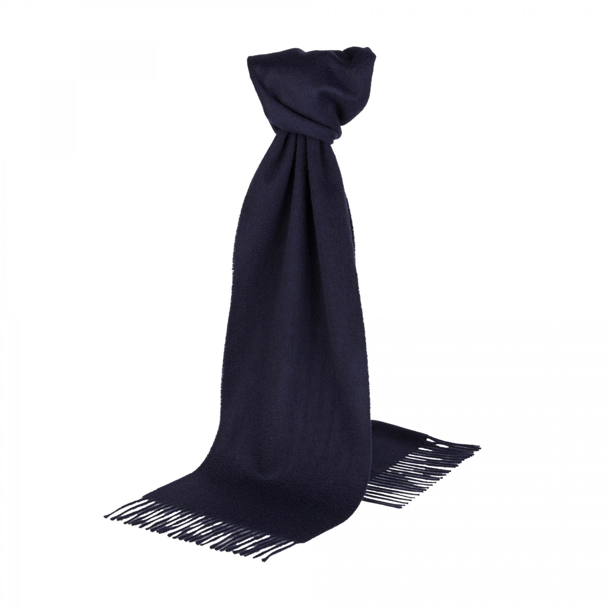 Extra Wide Navy Cashmere Scarf