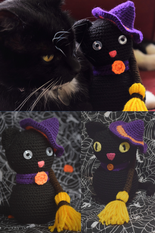 Ziggy & her crochet witch kitties