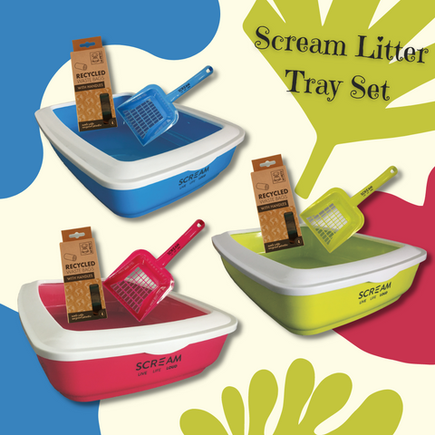 Scream Litter Tray & Scoop Set - Ziggy Belle