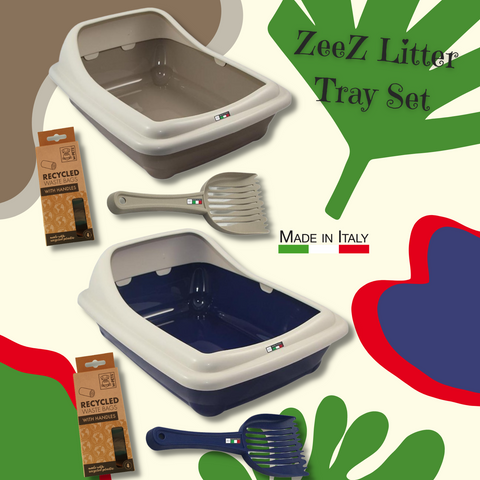 Zeez Litter Tray & Scoop Set - Ziggy Belle